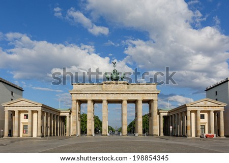 Brandenburg Gate in Berlin, Germany - stock photo