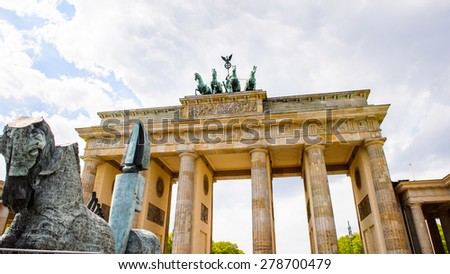 Brandenburg Gate In Berlin,  Germany. - stock photo