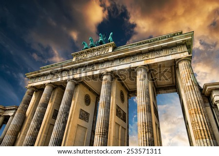 Brandenburg in Berlin, capital of Germany - stock photo