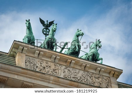 Brandenburg Tor detail. Berlin, Germany.  - stock photo