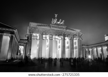 Brandenburger gate in Berlin, Germany - stock photo