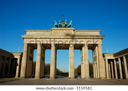 Brandenburger Gate in Berlin Germany - stock photo