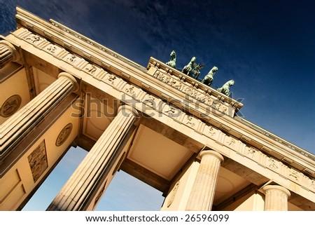 Brandenburger Tor at morning - stock photo