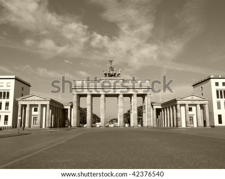 Brandenburger Tor (Brandenburg Door) in Berlin, Germany