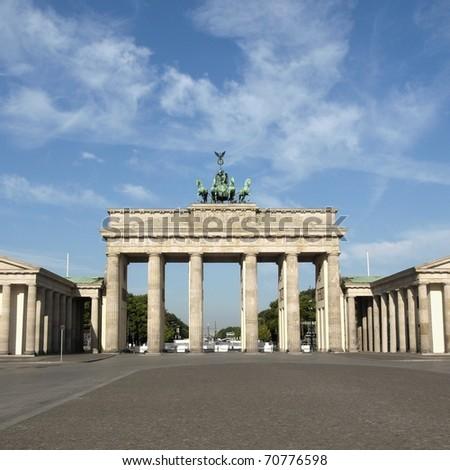 Brandenburger Tor (Brandenburg Gates) in Berlin, Germany - stock photo