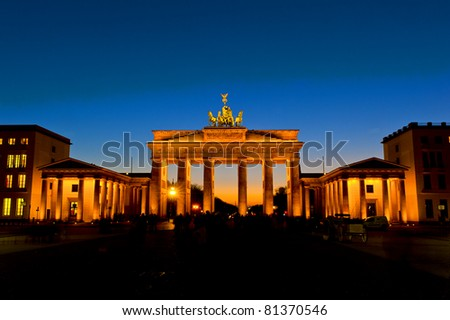 Brandenburger Tor by night - stock photo