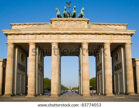 Brandenburger Tor in Berlin - stock photo