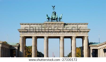Brandenburger Tor, the Landmark of Berlin - stock photo