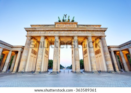 Branderburger Tor- Brandenburg Gate in Berlin, Germany - stock photo