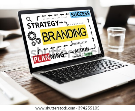 Branding Advertising Commercial Trademark Marketing Concept - stock photo