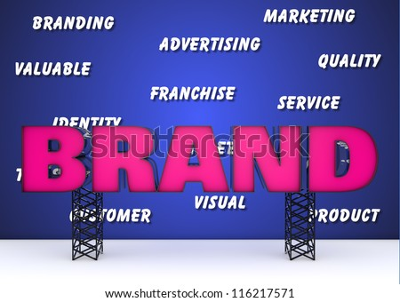 Branding and marketing concept - stock photo