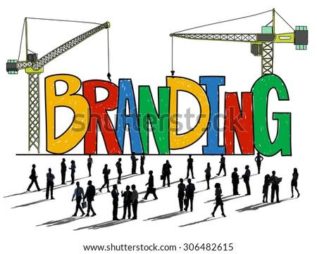 Branding Market Name Strategy Trademark Concept - stock photo