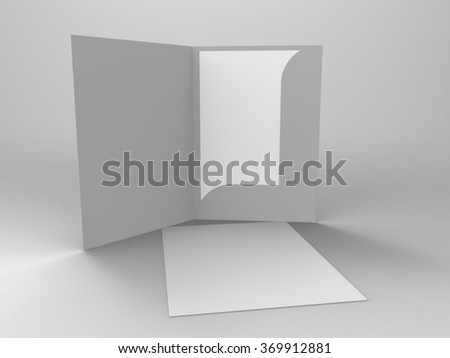 Branding Stationary 3D Render Folder and Stationary is a professional 3D render that can be used for various marketing campaigns, as well as brand marketing. - stock photo