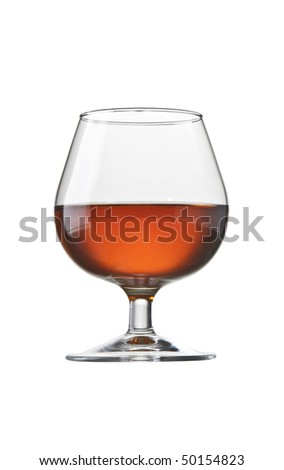 brandy cognac glass isolated