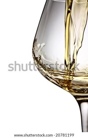 brandy flow - stock photo