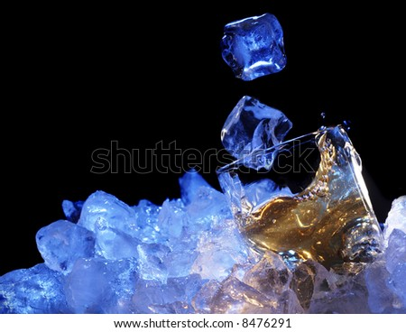 brandy glass and fall ace - stock photo