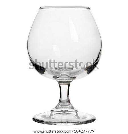 Brandy glass isolated on white background