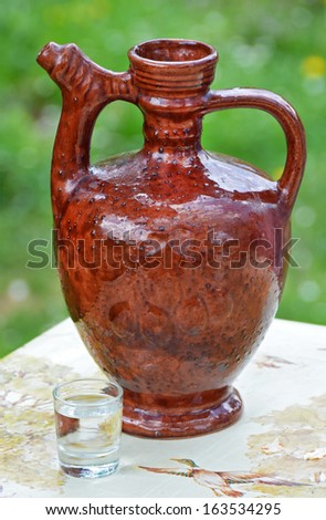 brandy pitcher  - stock photo