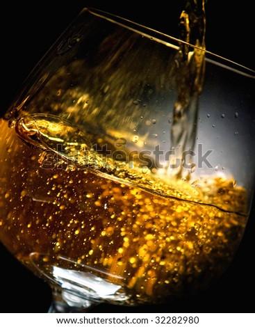 brandy splash - stock photo