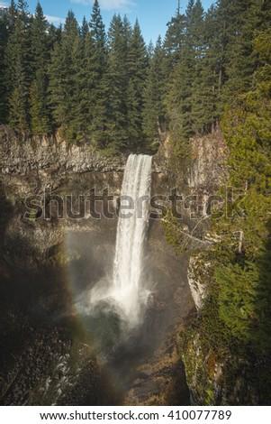 Brandywine falls near Whistler in Canada - stock photo