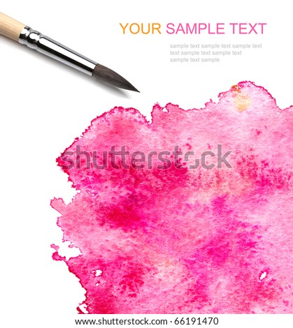 brash and abstract watercolor paint - stock photo