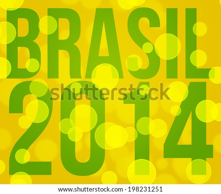 Brasil 2014 Backdrop Image - stock photo