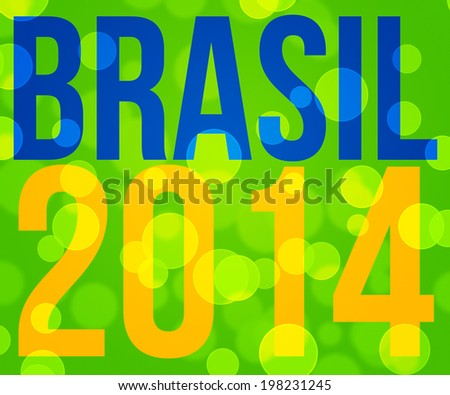 Brasil Football Cup Backdrop Image - stock photo
