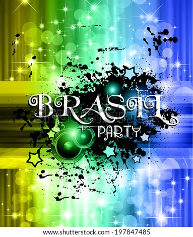 Brasil World soccer championship abstract background for posters, covers or flyers. - stock photo