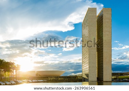 Brasilia, the Capital of Brazil  - stock photo
