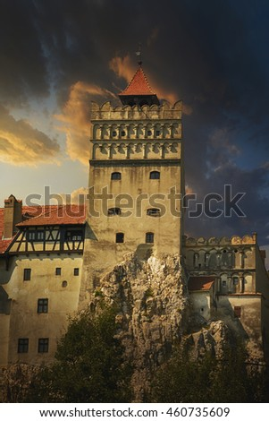 Brasov, Transylvania. Romania. The medieval Castle of Bran