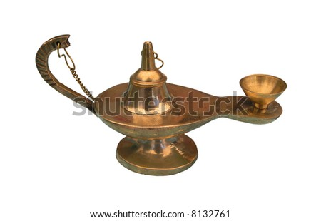 Brass Aladdin Lamp - stock photo