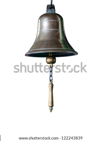 Brass bell - stock photo