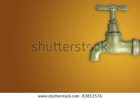 Brass faucet - stock photo