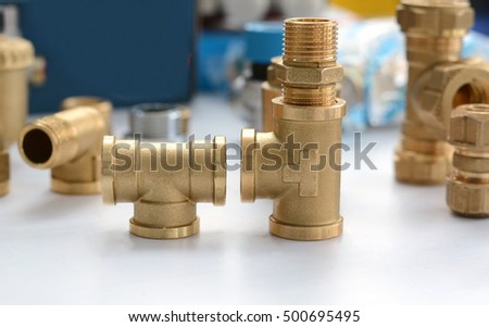 Brass Fittings Plumbing Fittings For Heating And Plumbing Systems Brass Tee Joint And Niple