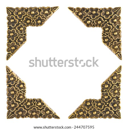 Brass Photo Corners - Picture Frame  - stock photo