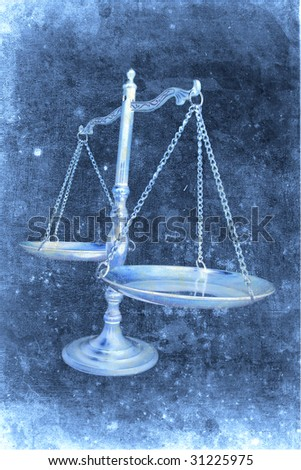 Brass Scale in Grunge Style - stock photo