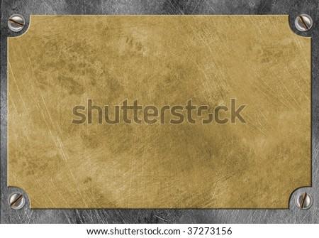 brass yellow metal - stock photo