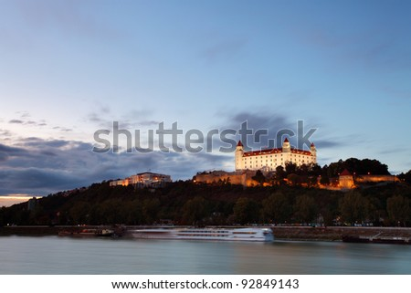 Bratislava castle - Slovakia - stock photo