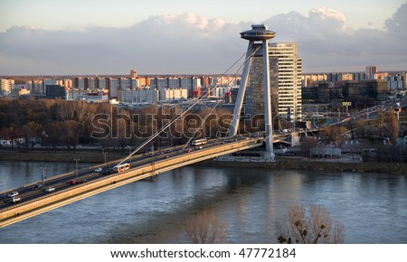 Bratislava - evening - stock photo