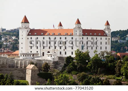 Bratislava, Slovak Republic, the European Union. Skyline - stock photo