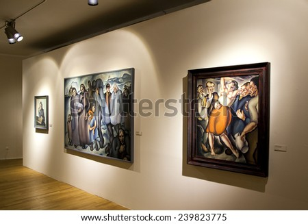 BRATISLAVA, SLOVAKIA - DECEMBER 15: Interior of Slovak national gallery on December 15, 2014 in Bratislava - stock photo