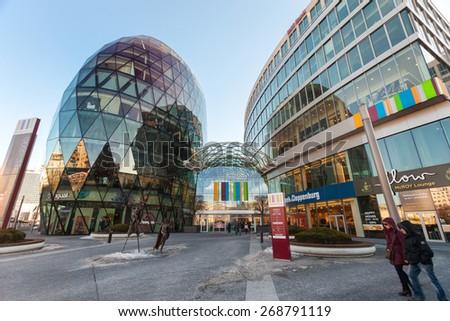 BRATISLAVA, SLOVAKIA - JANUARY 6, 2015: Galleria Eurovea shopping centre. - stock photo