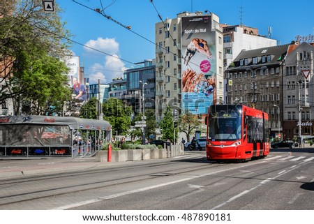 BRATISLAVA, SLOVAKIA - MAY 7, 2016: In the streets of the Old town of Bratislava. Bratislava is the Capital of Slovakia and most visited city in Slovakia.