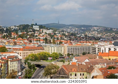 BRATISLAVA, SLOVAKIA - OCTOBER 11, 2014: Outlook form st. Martins cathedral to the town.