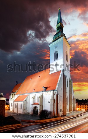 Bratislava - St. Martin cathedral, Slovakia - stock photo