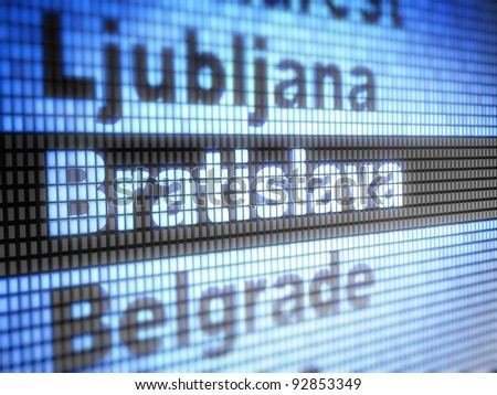 Bratislava. World capitals  Full collection of icons like that is in my portfolio - stock photo