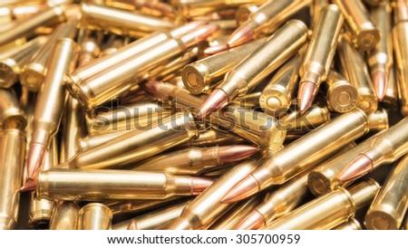 Brazen ammo - stock photo