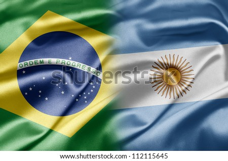 Brazil and Argentina - stock photo