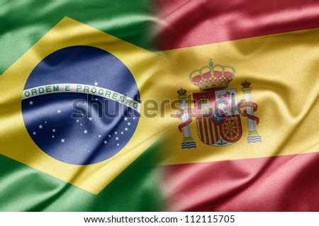 Brazil and Spain - stock photo