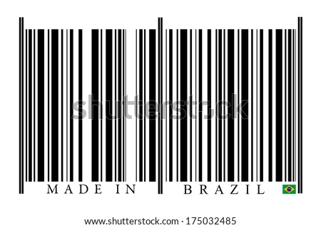 Brazil Barcode on white background